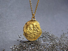 14k Yellow gold necklace with stamping American coin pendant.Very UNIQUE gift