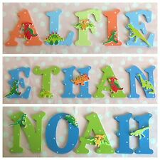 Children Baby Name Door Handmade Wooden Letter Bedroom Dinosaurs Pirates