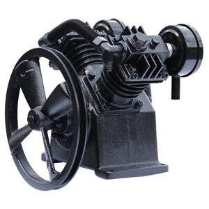 3HP 2 Piston 15 psi Twin Cylinder Air Compressor Pump Motor Head Air Tool Black