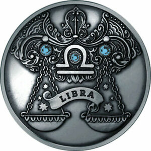 Belarus 2013 20 rubles Libra Signs of the zodiac Antique finish Silver Coin