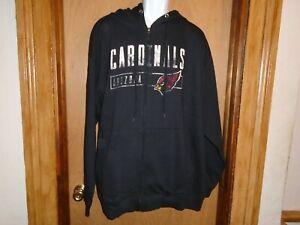 Arizona Cardinals Majestic Men's Full Zip Hooded Fleece Jacket 2XL NWT