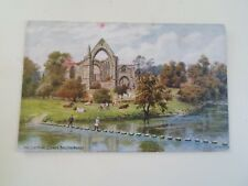 A R QUINTON Postcard *1473 STEPPING STONES BOLTON ABBEY Franked 1927  §B273