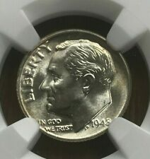 1948 Roosevelt Dime 10C NGC MS67 FT - Full Torch!