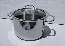 Calphalon Heavy Duty Stainless Steel 6 qt Stock Pot w/ Glass Lid
