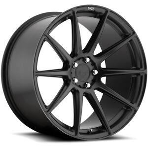 """Niche M147 Essen 19x8.5 5x112 +35mm Matte Black Wheel Rim 19"""" Inch"""