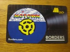 Borders Collectible Motown Gift Card Waldenbooks (No $ Value) Book Store