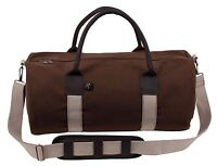 "canvas and leather gym bag with shoulder strap 19"" rothco 2621"