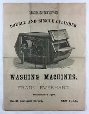 Browns Double and Single Cylinder Washing Machines Antique Illus Brochure NY