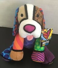 NWT Romero Britto Pop Art Plush Puppy Dog Multi Color Gund Stuffed Animal 8.5""
