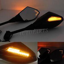 BLACK MATTE LED TURN SIGNALS REARVIEW MIRRORS FOR HONDA CBR250R CBR500R CBR300R