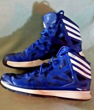 Adidas Mens Size US 8.5 blue high tops shoes sneakers basketball
