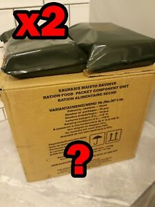 x2 RANDOM Lithuanian MRE Army military ration meal ready to eat 2022
