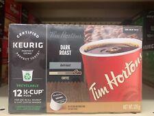 Tim Hortons Keurig Single Serve K Cups Coffee Canada DARK ROAST BLEND Box of 12