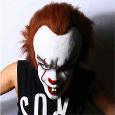 Movie Stephen King's Pennywise Clown Joker Scary Full Face Mask Men Prop Cosplay