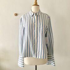 Equipment Vertical Stripes Silk Linen Shirt, S