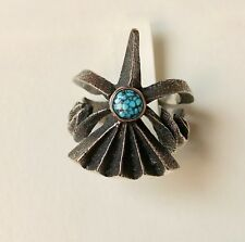 Navajo Sterling Silver and Turquoise Ring by Award Winning Artist Aaron Anderson