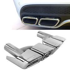 AMG Style Silver Exhaust Muffler Tips For Mercedes Benz W212 W221 W204 W205 W218
