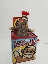 SOCK MONKEY IN THE JACK IN THE BOX