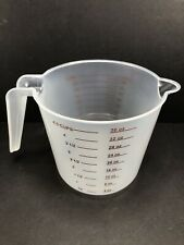 4.5 Cup / 1 Liter 36oz 1,000mL Plastic Measuring Cup, Red Measurements Metric