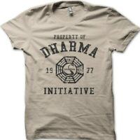 DHARMA Initiative 1977 TV SHOW LOST printed cotton t-shirt 8997