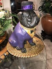 Omega Psi Phi Suited Bulldog With Cigar & Hat
