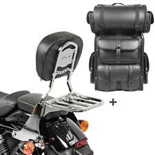 Sissybar sb1 + bolsa popa para LX Harley sportster 883 04-10 portaequipajes cromo