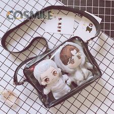 Transparent Shoulder Bag Ita Bag PU for Kpop EXO BTS Doll Show 20cm Sa