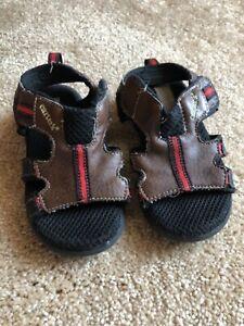 CARTERS Toddler Boy Sandals ~ Size 8 M medium ~ Brown