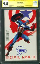 Captain America 2 CGC SS 9.8 Jim Steranko Top 1 Civil War Variant Avengers 8/16