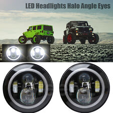 2X 7inch Jeep Daymaker LED Headlights with White DRL/Amber Turn Signal for Jeep