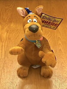 "Vintage Scooby-Doo 1998 Where R-U Bendable Applause Plush Animal 11""."