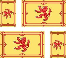 4x scotland scottish flag decals sticker lion car vinyl helmet