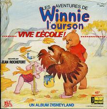 "Jean Rochefort ""Les Aventures de Winnie L'ourson"" Winne the Pooh Book and record"