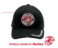 Rothco 9327 Deluxe Low Profile Cap - ''USMC'' G & A Logo - Black