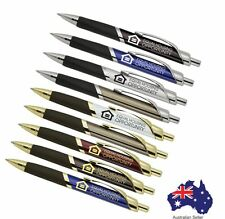 250 Custom PRINTED personalised  MARC METAL TRI GRIP Pens with logo and text