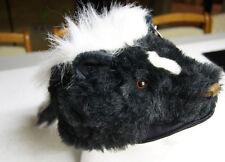 SKUNK HAT tail Halloween COSTUME head mask cap PLUSH flower stripe daniel boone
