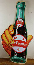 Dr Pepper Hand Holds Soda Pop 10 2 4 Bottle Heavy Metal General Store Adv Sign