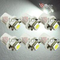 6 LED T5 B8.5D Per Cruscotto Quadro Strumenti SMD BIANCO Lampade Lampadine Luci