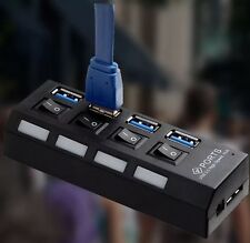 Super Speed Compact External AC Power Adapter 4 Ports USB 3.0 Hub 5GB/s