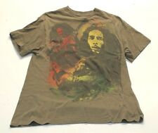 VINTAGE BOB MARLEY T-SHIRT REGGAE GREEN FADED MED AA1A
