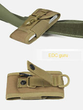 "Tactical MOLLE Cordura Mobile Smartphone Cell Phone 5""  Belt Pouch Bag #Khaki"