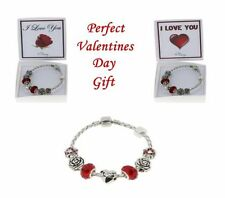 Silver Plated Love Hearts Costume Charms & Charm Bracelets