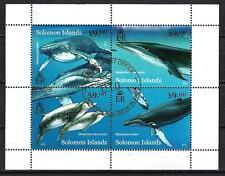 Animaux Baleines Salomon (210) série complète de 4 timbres oblitérés