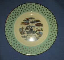 """Vtg Cavalier Eggshell Homer Laughlin Minnesota State 6"""" Souvenir Plate #K58N5"""