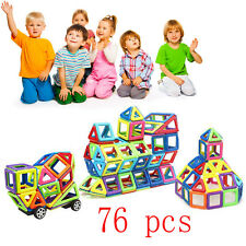 76PCS Magnetic Construction Building Toys Educational Blocks For Children Kids