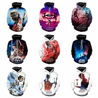 New Fashion Women/Men Star Wars: The Rise of Skywalker 3D Print Hoodie K99