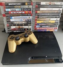 Sony Playstation 3 PS3 Black CECH-2501A Console Bundle + 24 Games GTA Call Duty