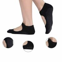 Women Cotton Yoga Barre Socks Non Slip Skid Pilates Ballet Ankle Socks