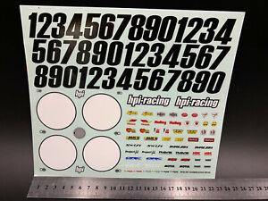 R/C Car 1/10 On road Decal Toy Original HPI sticker #9928-001 Crawler Buggy Diy