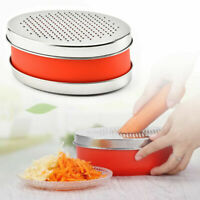 Cheese Food Vegetable Carrot Grater With Container Slicer Shredder Oval Kitchen